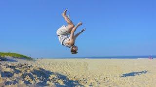 BEACH BACKFLIP!!