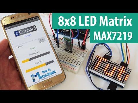 Arduino 8x8 LED Matrix Tutorial with Circuit Diagram