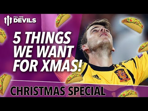 united - Tis the season to be jolly, a time for giving, not receiving, that is why Ian and Sam have put together a list of 5 things they would like Manchester United to get for Christmas. What gift...