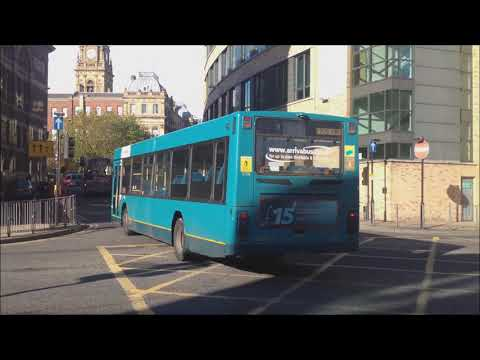 (HD) Buses In Liverpool - Queen Square 09/11/2013