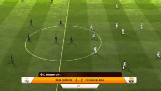 FIFA 13 Gameplay - FC Barcelona Vs Real Madrid