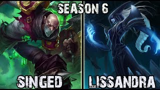Best Singed Korea vs Lissandra TOP Ranked Challenger