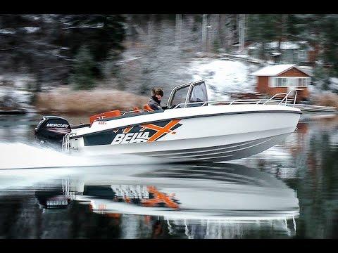 финский алюминиевый катер для рыбалки