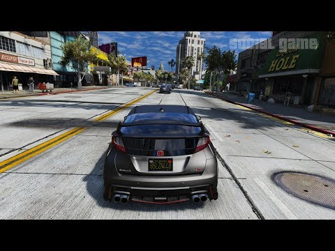 GTA 5 REDUX+NEW RESHADE+ENB Honda,Civic Type R 2017 Realistic Graphics MOD 1080p 60fps