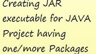 Video shows a procedure to create a JAR file of your JAVA projects, especially having one or more Packages in the project.