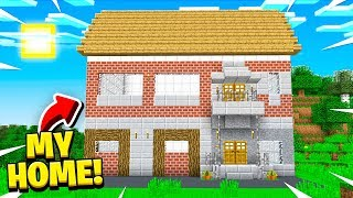 Building My REAL HOME In Minecraft!