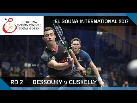 Squash: Dessouky v Cuskelly - El Gouna International 2017 Rd 2 Highlights