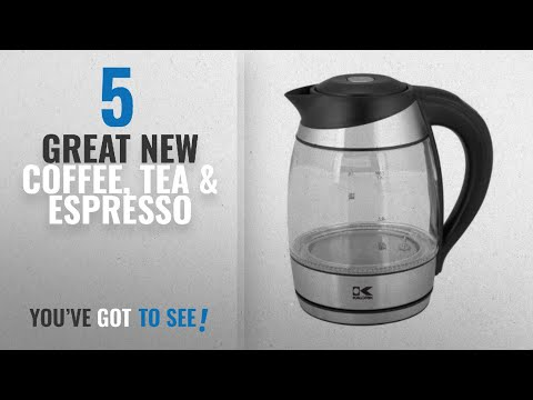 Top 10 Kalorik Coffee, Tea & Espresso [2018]: Kalorik JK 42656 BK LED Water Kettle, Black