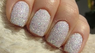 DIY: How to make your own glitter & sand nail polish - Jak zrobić brokatowy lakier - Basevehei - YouTube