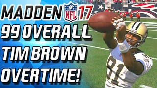 """Ultimate Legend TIM BROWN DEBUT! Enjoy! https://www.maddencoinwizard.com/ - BURGER 12% OffPODCAST - https://www.youtube.com/channel/UCECf_OLQtQoZvEfDQjoATJwINSTAGRAM - https://www.instagram.com/cullenburgerytTWITTER -  http://www.twitter.com/cullenburgar***Check Out CyberPowerPC!: http://goo.gl/NU5kBJ Use coupon code """"Burger"""" to take 5% off your order over $1299***Business Contact: CULLENBURGERYT@Gmail.comTWITCH - http://www.twitch.tv/cullenburgerMadden 17 Ultimate Team! I play a lot of Madden 17 Ultimate Team! I post Madden 17 Ultimate Team Pack Openings! I post Madden 17 Ultimate Team Season. If I have any I also post Madden 17 Ultimate Team Coin Making Tips and Madden 17 Ultimate Team team building tips. Enjoy!Tim Brown Gameplay, Ultimate Legend Tim Brown, 99 Overall Tim Brown, 99 Overall Madden Ultimate Team, Tim Brown Madden"""