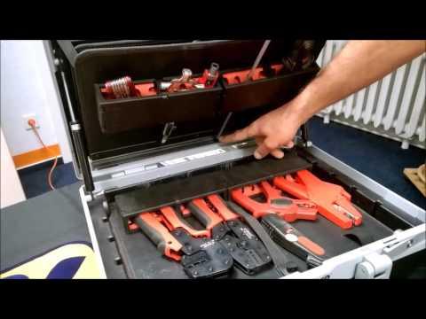 Cimco Werkzeugkoffer Diamant Meisterkoffer mit Trolly Elektriker Profi Werkzeugkoffer