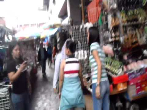 baclaran - Walking through the public market in Baclaran, Manila, Philippines.