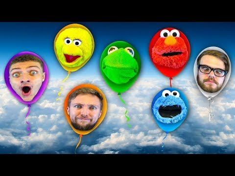 Puppets on Helium! Kermit the Frog & Elmo Ft Big Bird & Cookie Monster