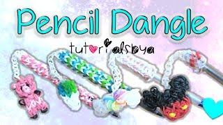 NEW Pen / Pencil Dangle Topper Rainbow Loom Charm Tutorial | How To - YouTube