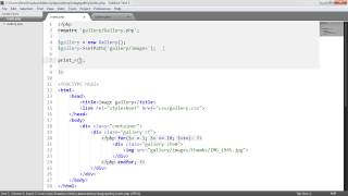 PHP File Based Image Gallery: Gallery Class (2/3)