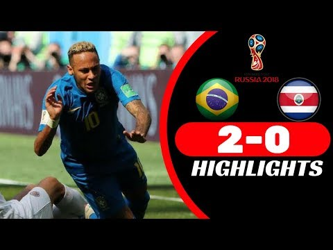 Brazil vs Costa Rica 2 0   All Goals & Highlights - From stands