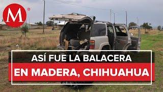 Así fue el enfrentamiento entre policías y grupo armado en Madera, Chihuahua