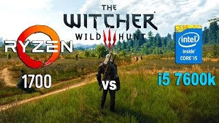Ryzen 7 1700 vs i5 7600k in The Witcher 3 (GTX 1070)