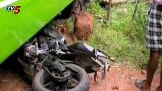 rtc bus hits bike 10 injured at medak tv5 news