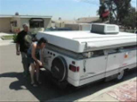 popuptrailer - how to set up and take down a coleman tent trailer.