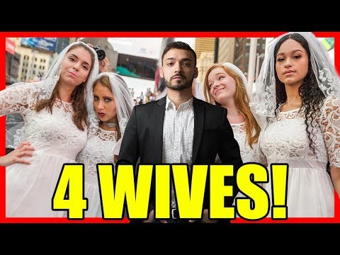 Walking In NYC With 4 Wives