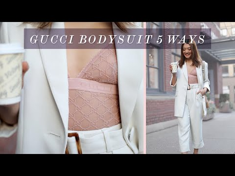 5 WAYS TO STYLE A BODYSUIT THIS SUMMER | GUCCI BODYSUIT