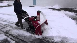 3. Video #6 2016 Honda HSS1332ATD snowblower in April 4th snow storm