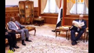 Eritrean News   Sana   Yemen Meeting With Foreign Minister Ousman Saleh By Eri TV