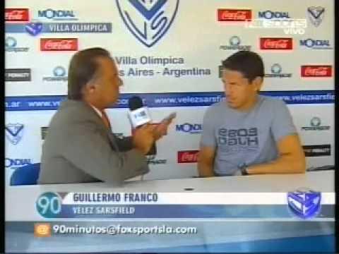 Guillermo Franco habla sobre su llegada a Vélez