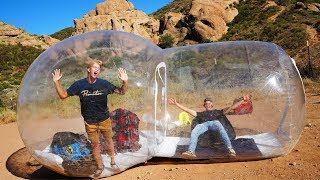 Video Surviving OVERNIGHT in a Bubble House in the Desert!! *GONE WRONG* MP3, 3GP, MP4, WEBM, AVI, FLV Agustus 2019