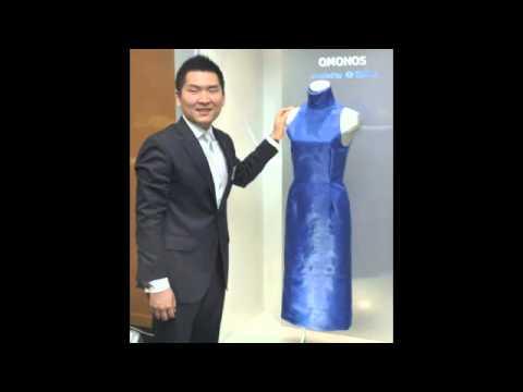 Kjole af kunstig super silke