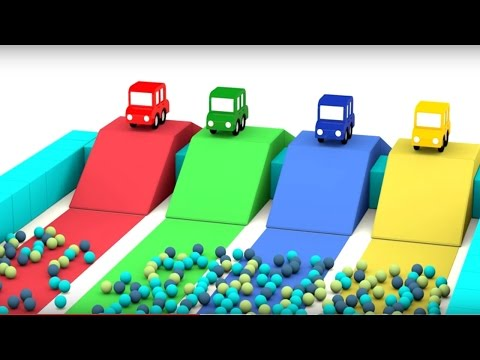 Lehrreicher Zeichentrickfilm - Die 4 kleinen Autos - Wer ist am Schnellsten?