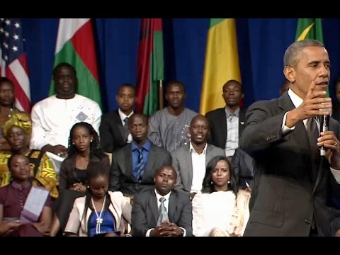 re - President Obama participated at a Young African Leaders Presidential Summit Town Hall in Washington, D.C., July 28, 2014.