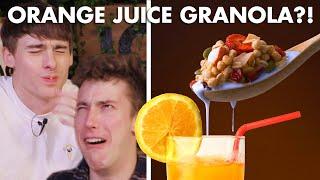 Video Best Way to Have Granola: with Orange Juice🍊 Vs Coffee☕️ Vs Hot Chocolate🍫 MP3, 3GP, MP4, WEBM, AVI, FLV Mei 2019