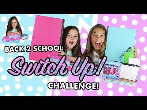 Back To School Supplies Switch Up Challenge | Rosie McClelland