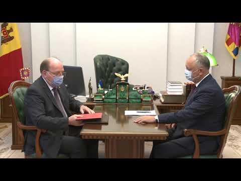 Глава государства провел встречу с Послом Российской Федерации