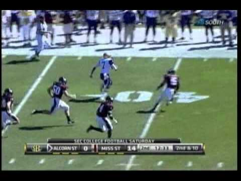 Brandon Bridge 78-yard touchdown run vs Mississippi St. 2011 video.