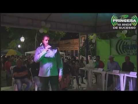 Rádio Princesa 10 anos de sucesso apresentação do calouro Elielson