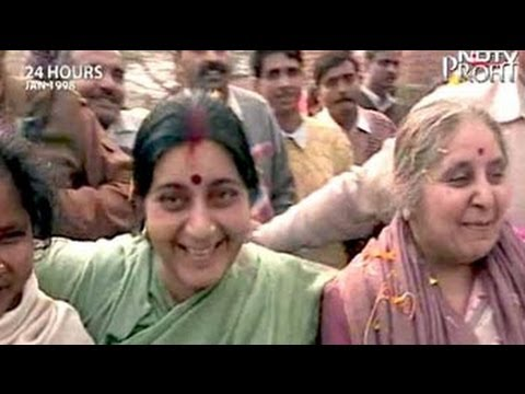aired - 24 Hours: There's a good reason why BJP candidate from South Delhi Sushma Swaraj's day starts at the crack of dawn at election time. Once she bolts her break...