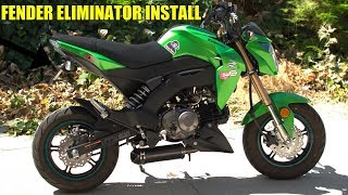 5. Fender Eliminator Install On A Kawasaki Z125 Pro