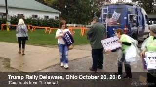 Delaware (OH) United States  city pictures gallery : Trump rally Delaware, Ohio Oct. 20, 2016