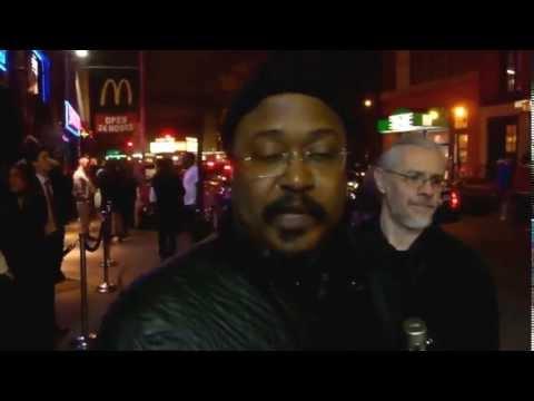 J4JA rally: DooBeeDoo interviewing Ras Moshe, saxophonist and union member, April 11, 2013
