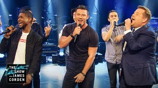 Video Sexiest Male Vocalist Riff-Off w/ Usher & Luke Evans MP3, 3GP, MP4, WEBM, AVI, FLV Januari 2018