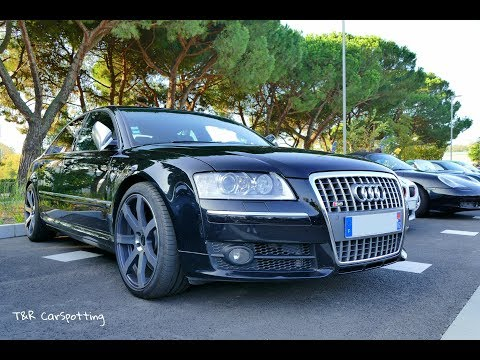 Audi S8 V10 with MTM wheels - Start up and accelerations