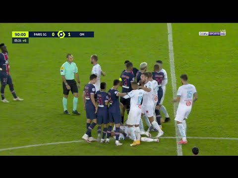 PSG vs Marseille Brawl (5 Red Cards)