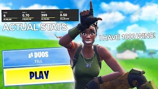 i EXPOSED my TEAMMATES STATS in RANDOM DUOS (they lied)