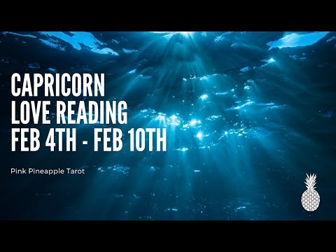 """Love messages - CAPRICORN """"ACCEPT MY APOLOGY"""" FEB 4-10 WEEKLY LOVE READING"""