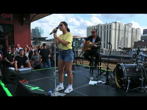 Alessia Cara Sings How Far I'll Go On The Roof Of Aldeans For 107.5