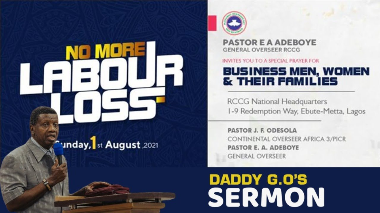 RCCG Live Sunday 1 August 2021 Special Thanksgiving Service