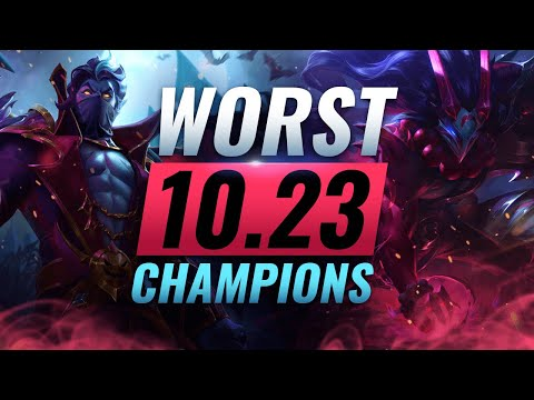10 WORST Champs You MUST AVOID Playing in Patch 10.23 - League of Legends Preseason 11